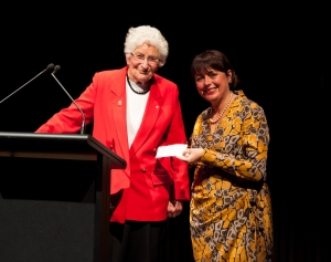 Betty Amsden OAM and Kathryn Fagg at the Music Circle patrons program launch 2011