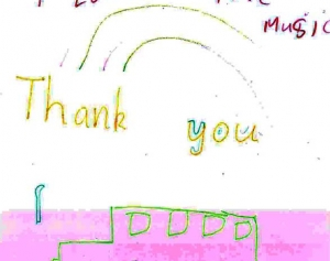 Thank you letter from a Share the Music participant