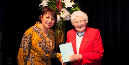 Patron Betty Amsden OAM and Kathryn Fagg (Chair of Melbourne Recital Centre)