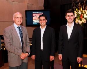 Richard Gubbins with musicians Amir Farid and Nick Dinopolous