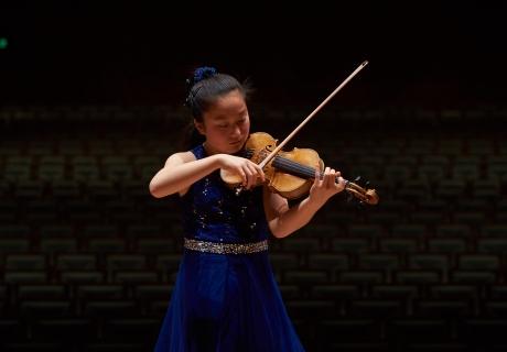Image: Dandan Wang at the 2018 Bach Competition