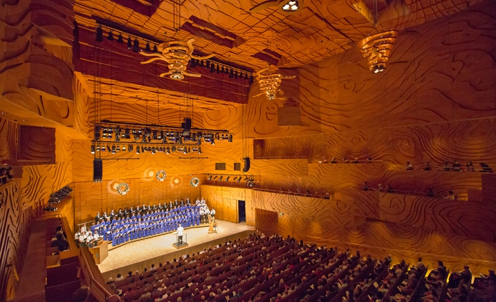 Image: Australian Boys Choir in Elisabeth Murdoch Hall