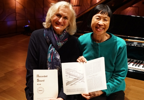 Prof Andrea Hull and Margaret Leng Tan