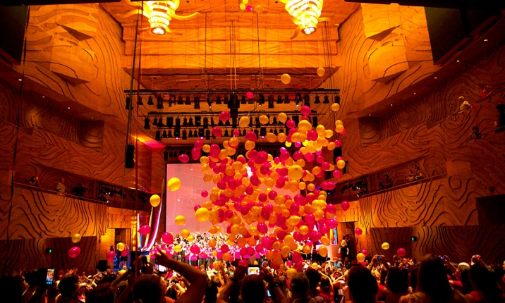Melbourne Recital Centre celebratory balloon drop