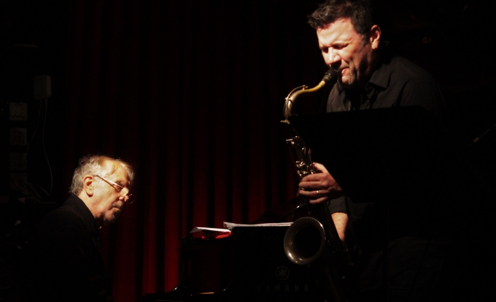 Two Pianos and a saxophone