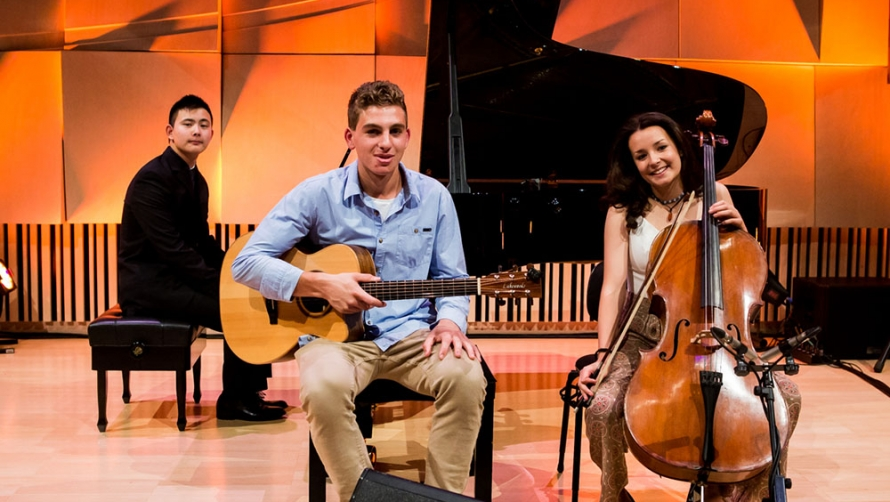 Christopher (Piano), Adrian (Guitar), Wynnie (Cello)