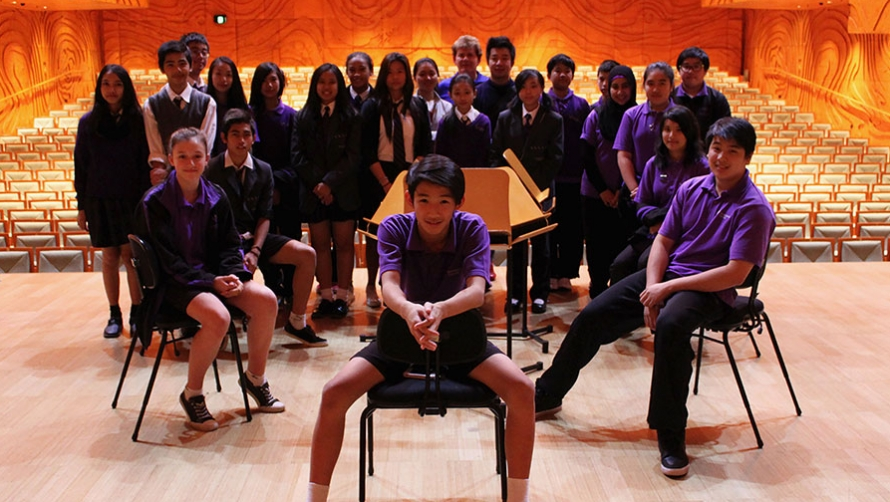 Students from Keysborough College