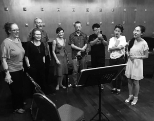 Chamber Made Opera in rehearsal