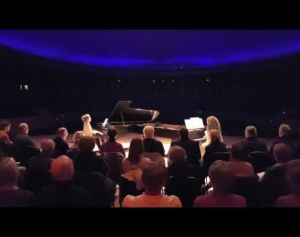 Bach Goldberg Variations for 2 pianos Aria & Var 1:Lisa Moore and Sonya Lifschitz pianos